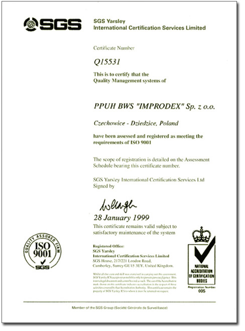 1998 - First certificate and cooperation with Delphi